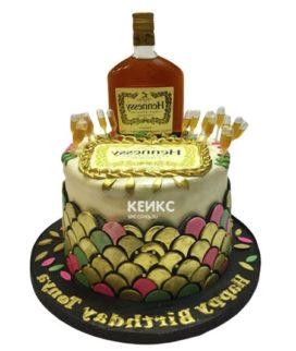 Торт с бутылкой Хеннесси 5