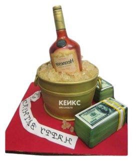 Торт с бутылкой коньяка 1