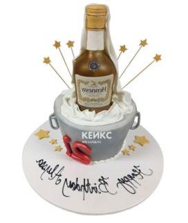 Торт с бутылкой коньяка 10