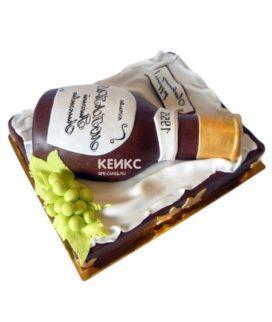 Торт с бутылкой коньяка 5