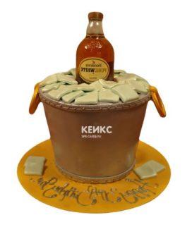 Торт с бутылкой коньяка 8