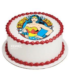 Торт с фотопечатью без мастики 11