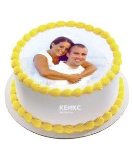 Торт с фотопечатью без мастики 13