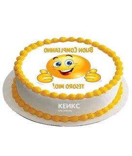 Торт с фотопечатью без мастики 15