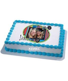 Торт с фотопечатью без мастики 8