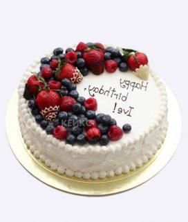Торт с фруктами и ягодами 5