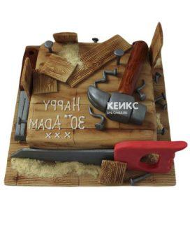Торт с инструментами 6