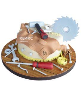 Торт с инструментами 7