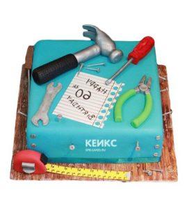 Торт с инструментами 8