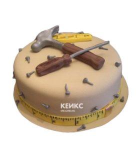Торт с инструментами 9