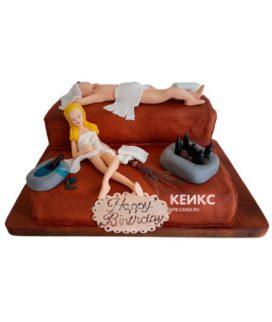 Торт с мастикой прикольный 3