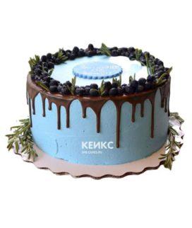 Торт с подтеками для мужчины-1