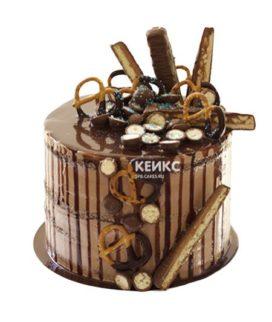 Торт с подтеками для мужчины-11