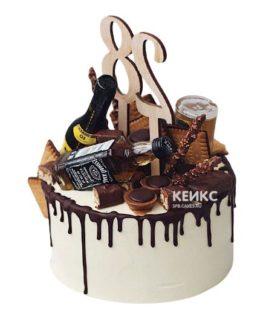 Торт с подтеками для мужчины-12
