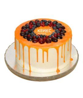 Торт с подтеками для мужчины-3