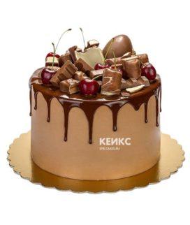 Торт с подтеками для мужчины-8