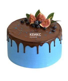 Торт с подтеками для мужчины-9