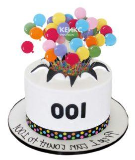 Торт с шариками 11