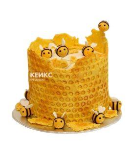Торт с сотами