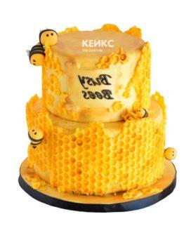 Торт с сотами-3