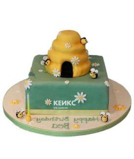 Торт с ульем-5