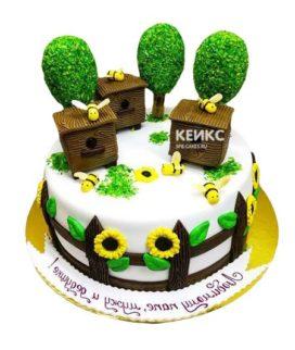 Торт с ульем-7