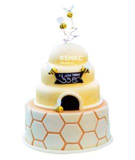 Торт с ульем-8