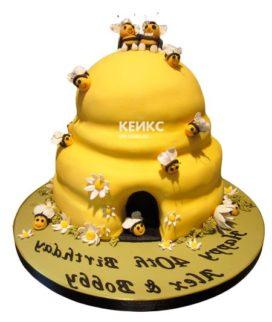 Торт с ульем-9