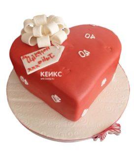 Торт сердце 14