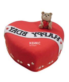 Торт сердце 15