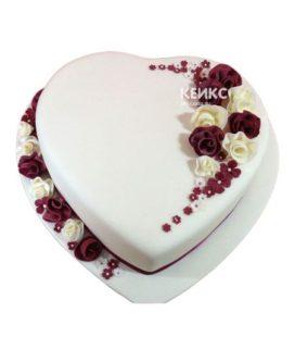 Торт сердце 16
