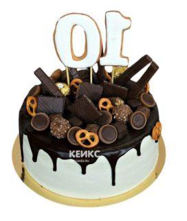 Торт шоколадный для мужчины-11