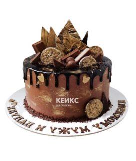 Торт шоколадный для мужчины-2