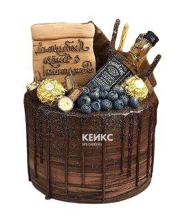 Торт шоколадный для мужчины-4