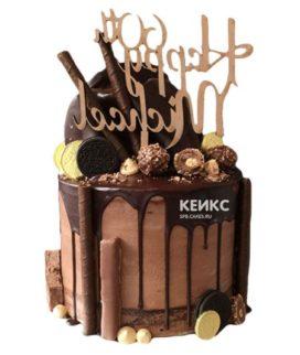 Торт шоколадный для мужчины-6