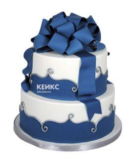 Торт сине белый 1