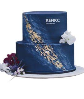 Торт сине белый 2