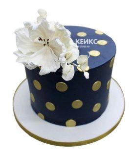 Торт сине белый
