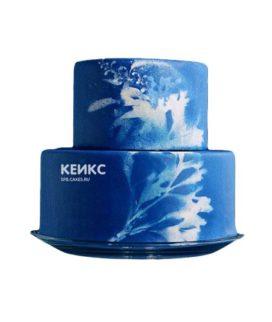 Торт сине белый 5