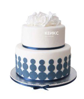 Торт сине белый 6