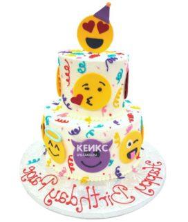 Торт смайлик 11