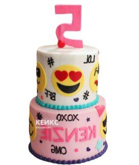 Торт смайлик 12