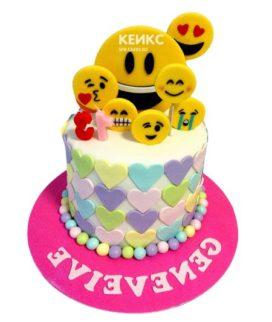 Торт смайлик 13