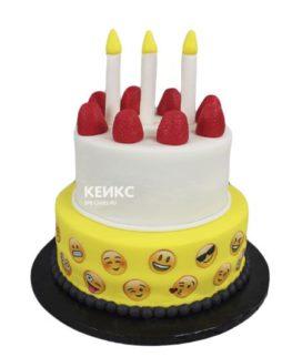 Торт смайлик 8