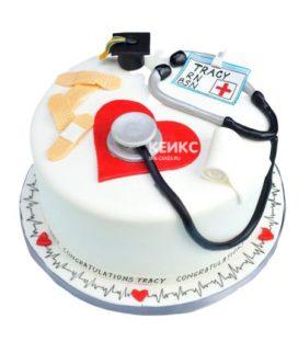 Торт спасибо врачу-10