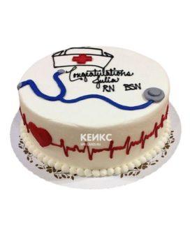 Торт спасибо врачу-13