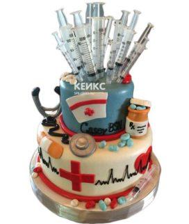 Торт спасибо врачу-15