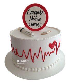 Торт спасибо врачу-4