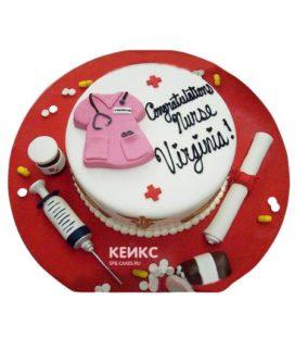 Торт спасибо врачу-5