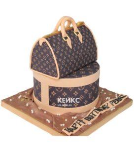 Торт сумка луи виттон-11